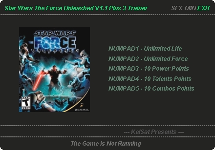Star Wars The Force Unleashed Ultimate Sith Edition Trainer 3