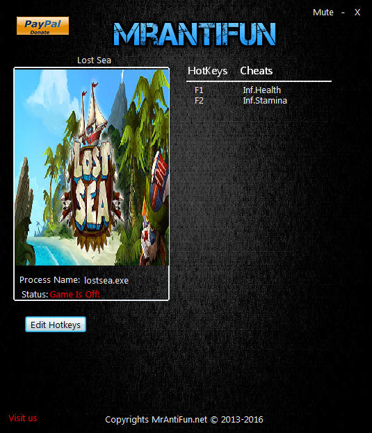Lost Sea: Trainer +2 v1.00 {MrAntiFun}