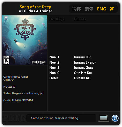 Song of the Deep: Trainer +4 v1.0 {FLiNG}