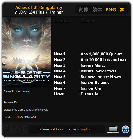 Ashes of the Singularity: Trainer (+7) [1.0 - 1.24] {FLiNG}