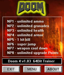 Doom 4: Trainer (+7) [1.03] {dR.oLLe}