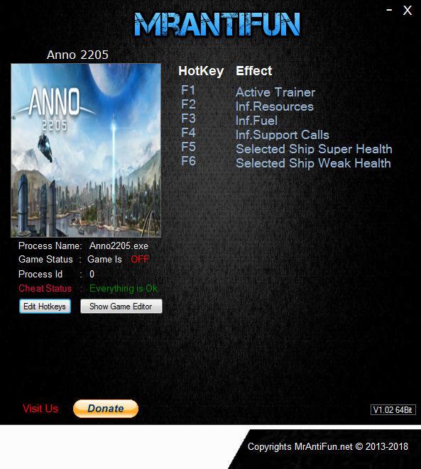 Anno 2205: Trainer +5 v1.08.3742 Steam {MrAntiFun}