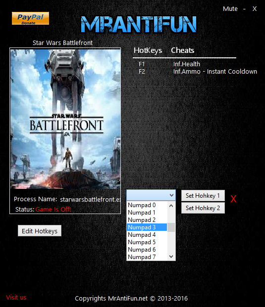 Star Wars: Battlefront (2015): Trainer (+3) [1.5.56688] {MrAntiFun}