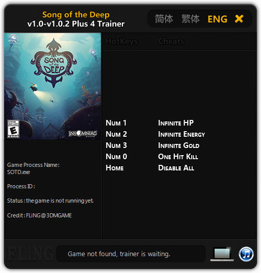 Song of the Deep: Trainer (+4) [1.0 - 1.0.2] {FLiNG}
