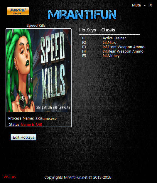 Speed Kills: Trainer +4 v1.0.10897 {MrAntiFun}