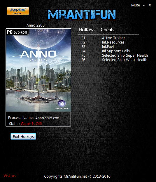 Anno 2205: Trainer (+5) [1.07] {MrAntiFun} - Updated Version