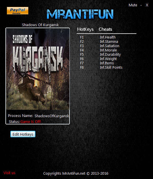 Shadows Of Kurgansk: Trainer +8 v0.1.45 {MrAntiFun}