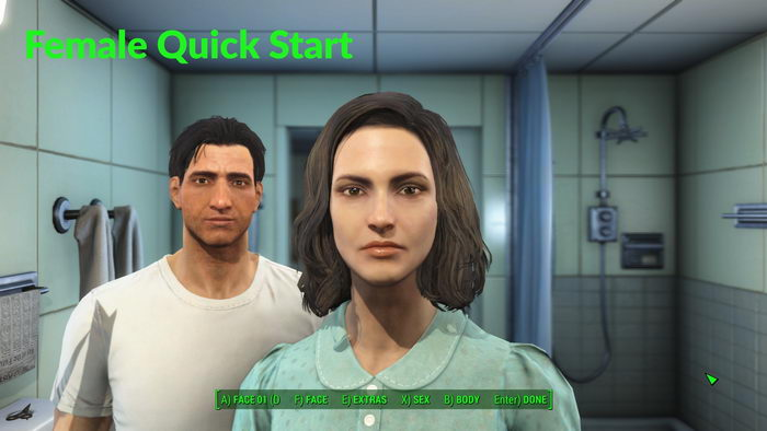 Fallout 4: Two convenient quick start save games (male and female)