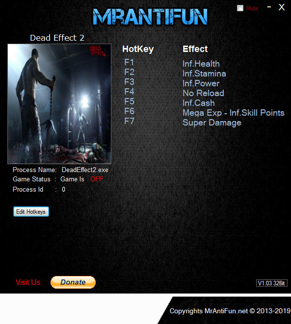 dead effect cheat engine
