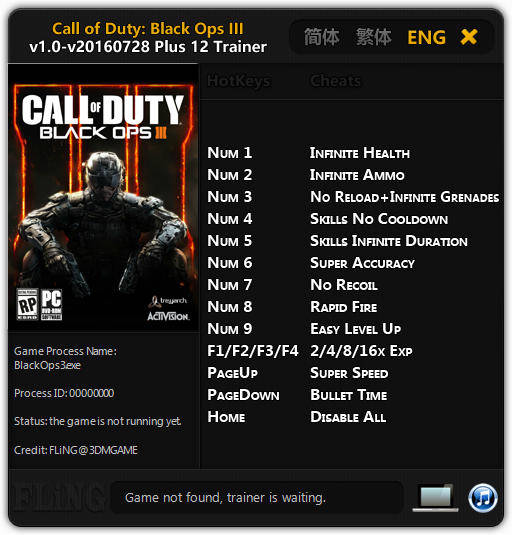 Call of Duty: Black Ops 3: Trainer (+12) [1.0 - UPD: 28.07.2016] {FLiNG}