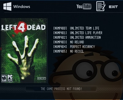 Left 4 Dead: Trainer (+6) [Latest Steam] {LIRW / GHL}