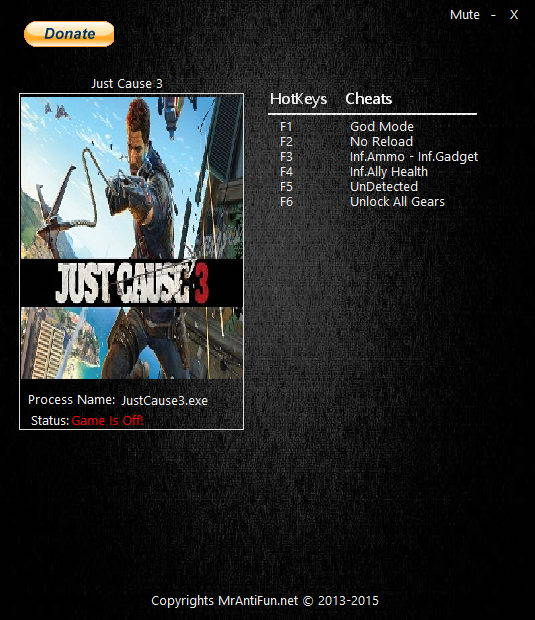Just Cause 3: Trainer (+7) [30.07.2016] {MrAntiFun}