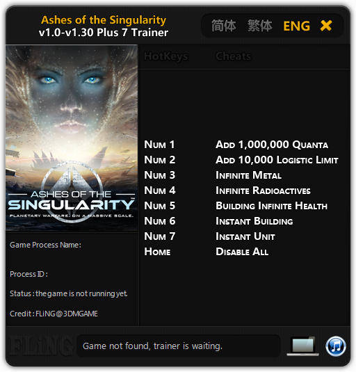 Ashes of the Singularity: Trainer (+7) [1.0 - 1.30] {FLiNG}