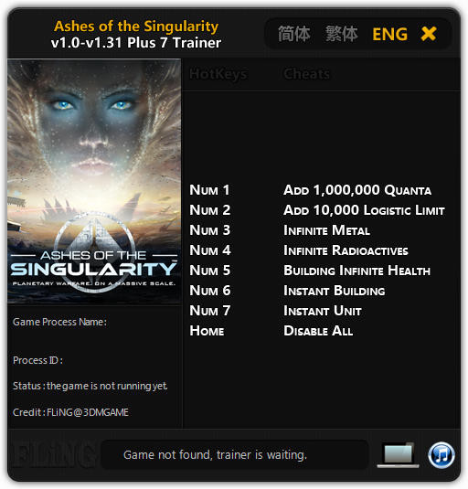 Ashes of the Singularity: Trainer +7 v1.0 - 1.31 {FLiNG}