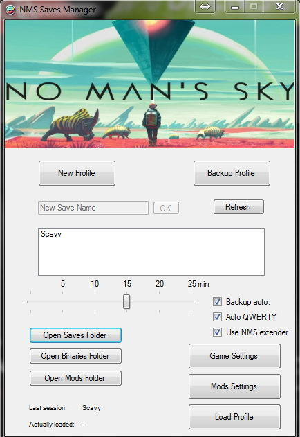 No Man's Sky: NMS Saves and .pak mods Manager (0.4.1b)