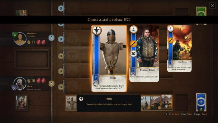 The Witcher 3: Wild Hunt - Cheat-Mode (Shift cards gwent)