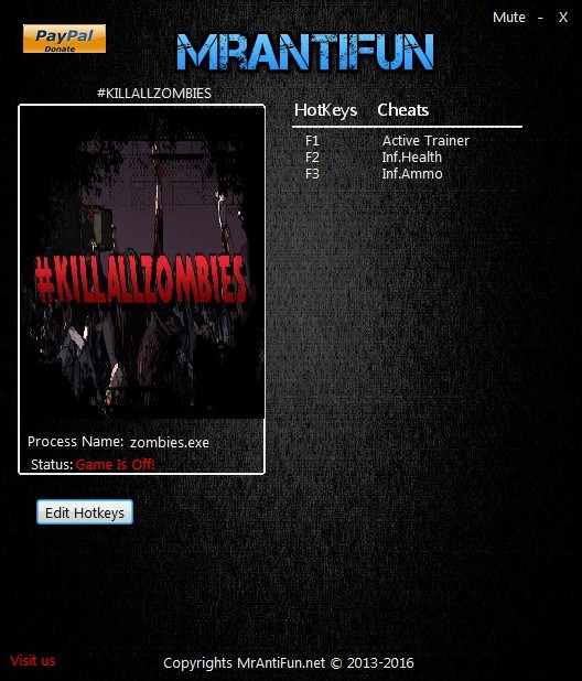#KILLALLZOMBIES: Trainer +2 V1.00 {MrAntiFun}