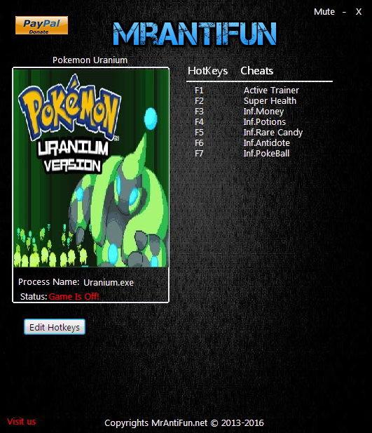 cheat engine pokemon uranium