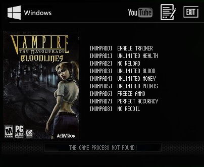 скачать трейнер для Vampire The Masquerade Bloodlines img-1