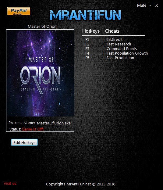 Master of Orion (2016): Trainer (+5) [48.3 64 Bit] {MrAntiFun}