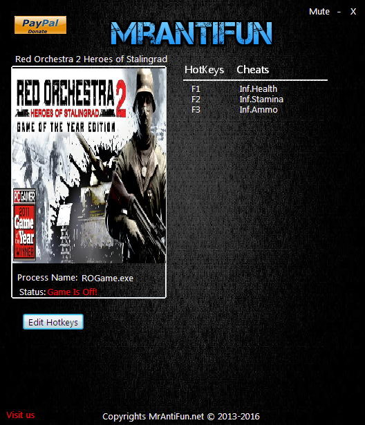 Red Orchestra 2 Heroes of Stalingrad: Trainer +3 Single Player V08.21.2016 {MrAntiFun}