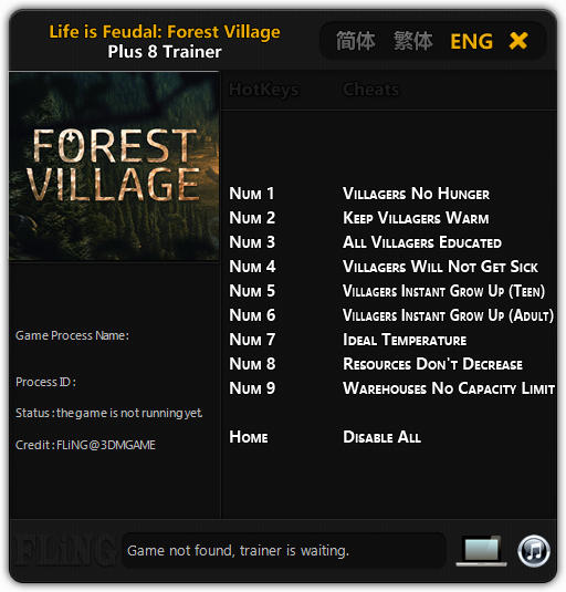Life is Feudal: Forest Village - Trainer +6 Early Access Updated 2016.08.30 {FLiNG}