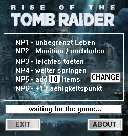 Rise of the Tomb Raider: Trainer (+6) [1.0 - Build 668.1] {dR.oLLe}
