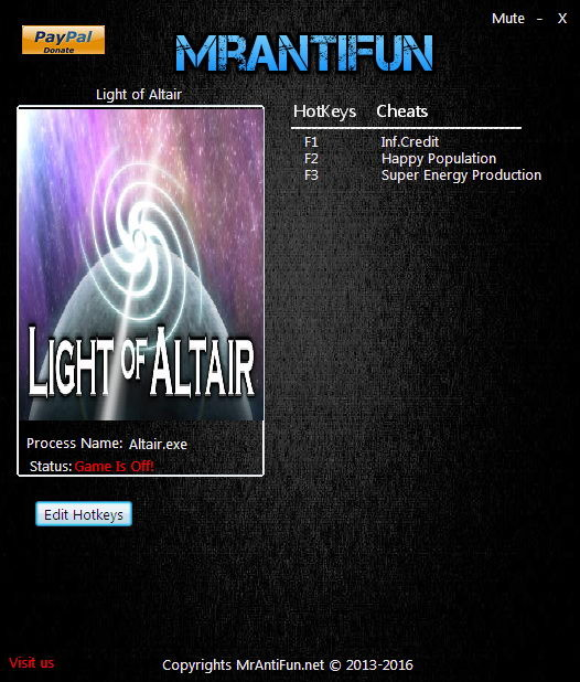 Light of Altair: Trainer +3 V1.01 {MrAntiFun}
