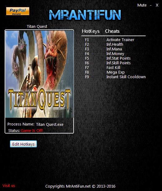Titan Quest: Trainer +8 V1 30 {MrAntiFun} - Download - GTrainers