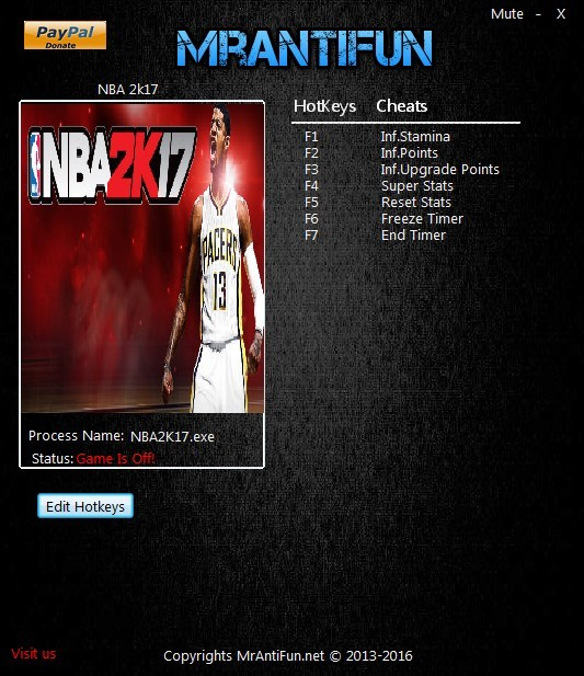 NBA 2K17: Trainer (+7) [1.0] {MrAntiFun}