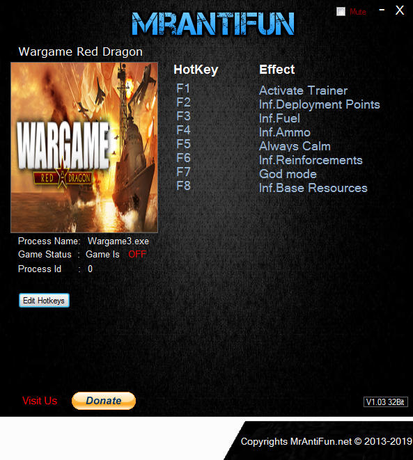Wargame: Red Dragon: Trainer (+9) [16.08.23] {MrAntiFun}