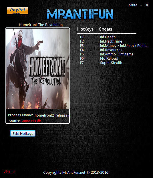 Homefront: The Revolution - Trainer (+9) [724361] {MrAntiFun}