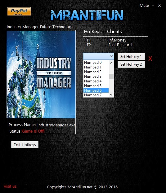 Industry Manager: Future Technologies - Trainer (+2) [1.0.9] {MrAntiFun}