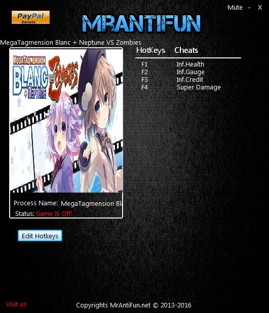 MegaTagmension Blanc + Neptune VS Zombies: Trainer +4 V1.00 {MrAntiFun}
