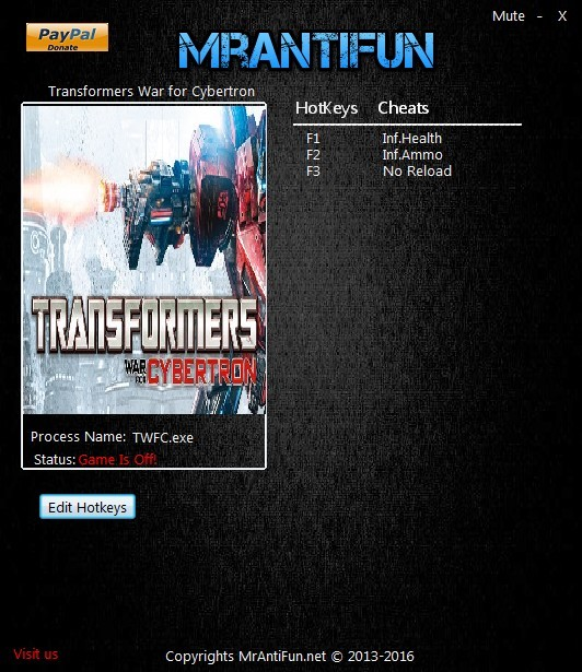 Transformers: War for Cybertron - Trainer +3 V10.06.2016 {MrAntiFun}
