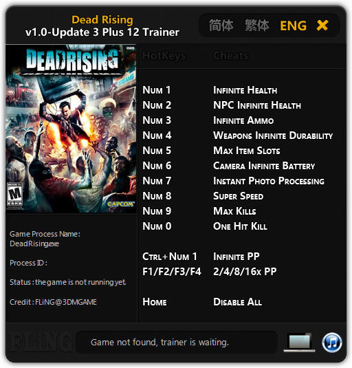 Dead Rising: Trainer (+12) [1.0 - Update 3] {FLiNG}
