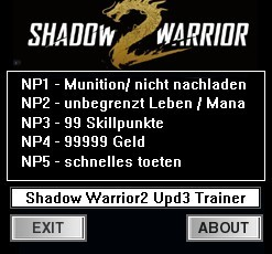 Shadow Warrior 2: Trainer (+5) [Update 3] {dR.oLLe}