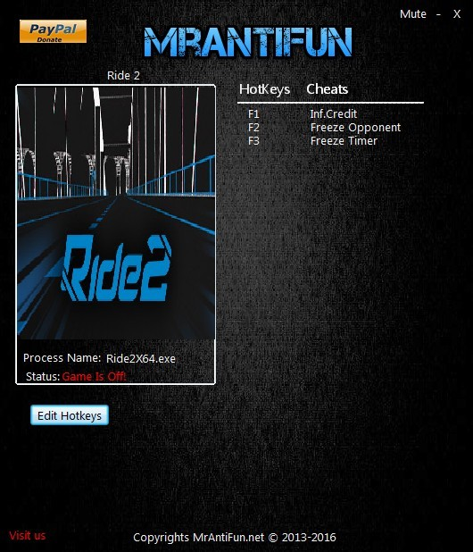 Ride 2: Trainer +3 V1.00 {MrAntiFun}
