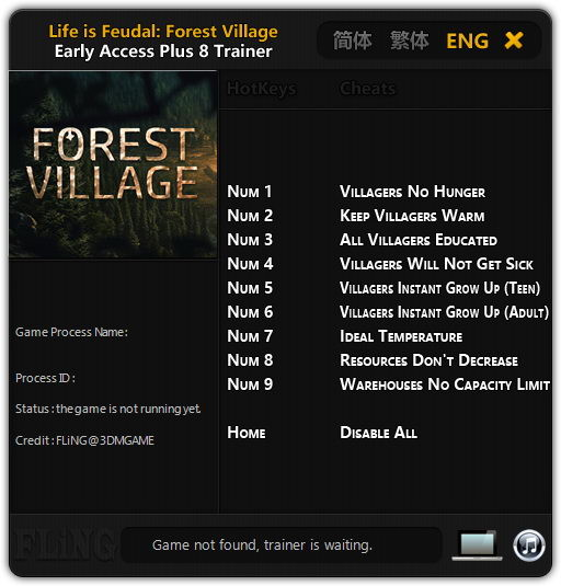 Life is Feudal: Forest Village: Trainer (+8) [Update: 21.10.16] {FLiNG}