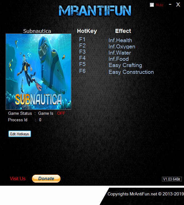 Subnautica: Trainer (+5) [Build 39786: 64-bit] {MrAntiFun}