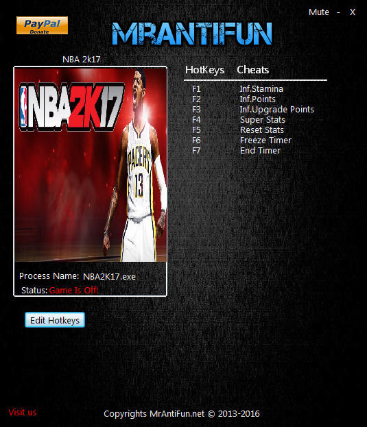 NBA 2K17: Trainer (+7) [1.04] {MrAntiFun}