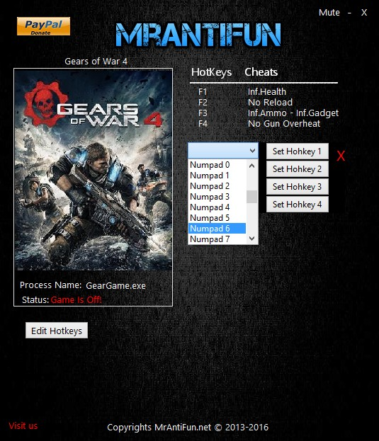 Gears of War 4: Trainer (+5) [9.3.2.2] {MrAntiFun}