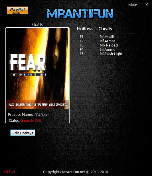 F.E.A.R.: Steam Trainer +5 {MrAntiFun}