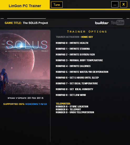 The Solus Project: Trainer (+12) [Update 20 Feb] {LinGon}