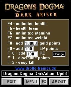 Dragons dogma dark arisen cheat engine