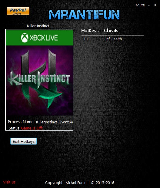Killer Instinct: Trainer +1 v3.4.2.0 {MrAntiFun}