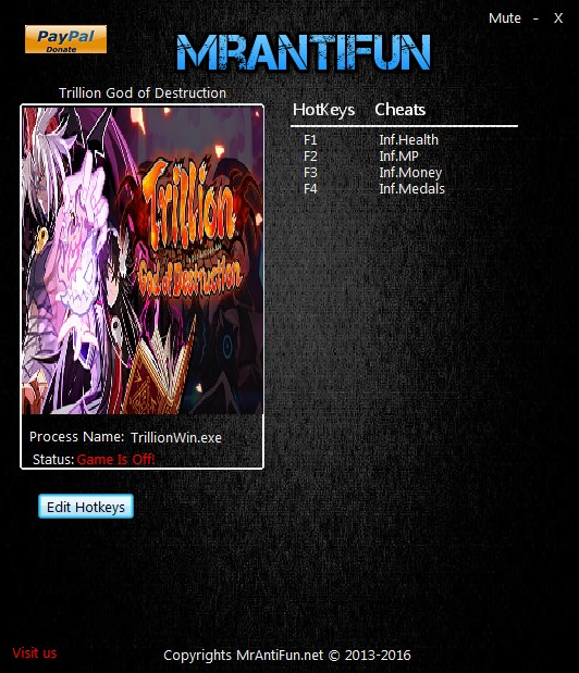 Trillion: God of Destruction - Trainer +4 V1.00 {MrAntiFun}