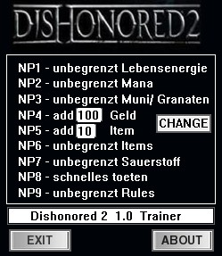 Dishonored 2: Trainer (+9) [1.0] {dR.oLLe}