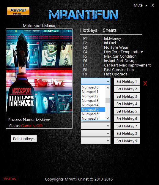 Motorsport Manager: Trainer (+9) [1.0.11576B: fix] {MrAntiFun}