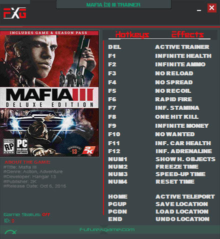Mafia 3: Trainer (+19) [3.0] {FutureX}